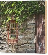 Gate And Window Wood Print