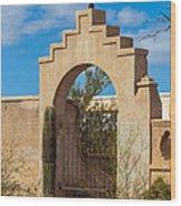Gate At San Xavier Del Bac Wood Print