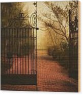 Gate At The Abby Wood Print