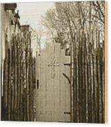 Gate Cross Wood Print