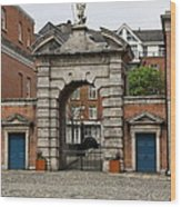 Gate Of Fortitude - Dublin Castle Wood Print