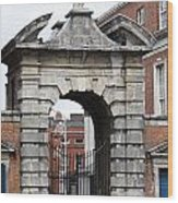 Gate Of Justice - Dublin Castle Wood Print