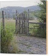 Gate To Peaceful Paradise Wood Print