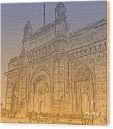 Gate Way Of India Wood Print