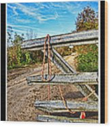 Gated Community Country Style Wood Print