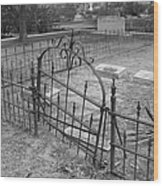 Gated Community In Black And White Wood Print