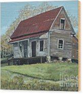 Gates Chapel - Ellijay Ga - Old Homestead Wood Print