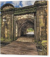 Gates Of Intramuros Wood Print by Mario Legaspi