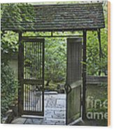 Gates Of Tranquility Wood Print