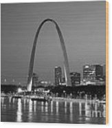 Gateway Arch In St Louis Wood Print
