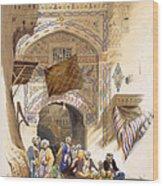 Gateway Of A Bazaar, Grand Cairo, Pub Wood Print