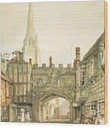 Gateway To The Close, Salisbury Wood Print