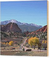 Gateway To The Rockies Wood Print