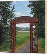 Gateway To The Trail Wood Print by Lizbeth Bostrom