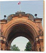 Gateway To Tivoli Gardens Wood Print
