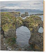 Gatklettur Arch In Hellnar Wood Print