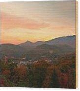 Gatlinburg Overlook Sunset Wood Print