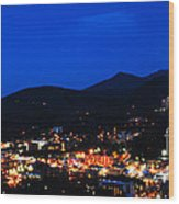 Gatlinburg Skyline At Night Wood Print