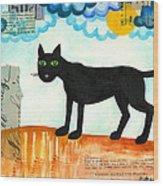 Gato Mexico Wood Print