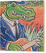 Gator Boogie Wood Print
