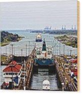 Gatun Locks Panama Canal Wood Print