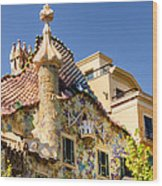 Gaudi Apartment Wood Print