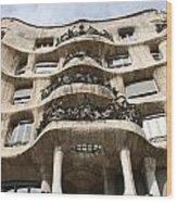 Gaudi Architecture Barcelona Spain Wood Print