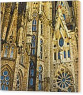 Gaudi - Sagrada Familia Wood Print