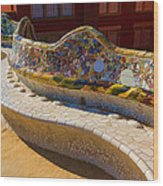 Gaudi's Park Guell Sinuous Curves - Impressions Of Barcelona Wood Print
