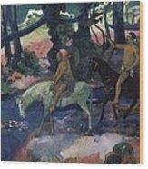 Gauguin, Paul 1848-1903. Ford Running Wood Print