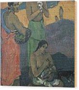 Gauguin, Paul 1848-1903. Three Women Wood Print by Everett