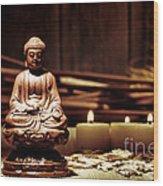 Gautama Buddha Wood Print by Olivier Le Queinec
