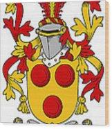 Gavin Coat Of Arms Irish Wood Print