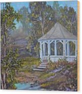 Gazebo And A Dream Wood Print by Michael Mrozik