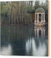 Gazebo And Lake Wood Print