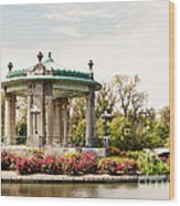Gazebo At Forest Park St Louis Mo Wood Print
