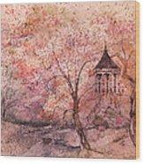 Gazebo In Red Wood Print