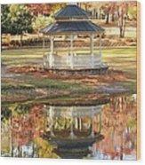Gazebo In The Park Wood Print
