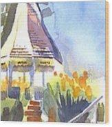 Gazebo On The City Square Wood Print