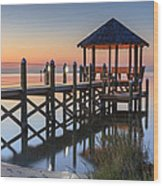 Gently - Gazebo On The Sound Outer Banks North Carolina Wood Print