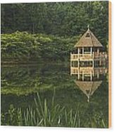 Gazebo Reflections Wood Print