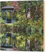 Gazebo Retreat Wood Print