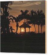 Gazebo Silhouette Wood Print