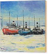 Gdynia Harbour - Winter Wood Print