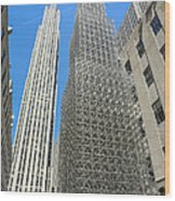 Ge Building Replica Wood Print