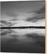 Peaceful Sunset Wood Print by Thomas Leon