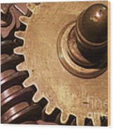 Gear Wheels Wood Print