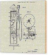 Gears 1935 Patent Art Wood Print