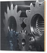Gears And Power Wood Print