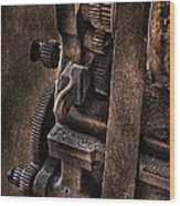 Gears And Pulley Wood Print